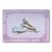 dress up card with ballerina