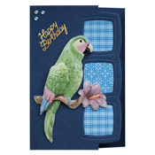 Thanks card with parrot
