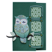 lomiac card with owl