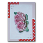 dress up card with roses