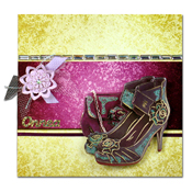 dress up card with shoes