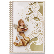 luxury card with angel and bible