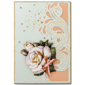 luxury card met roos