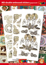 Double embossed Stickers