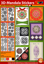 3d Mandala stickers