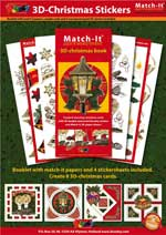 Match-It Christmas booklet with 4 stickers