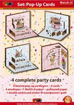 Pop-Up Party cards