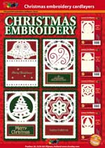 Christmas cards with cardlayers to embroider